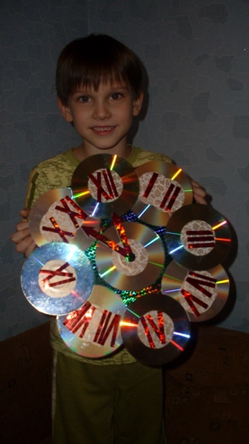 Елка из сд дисков своими руками к