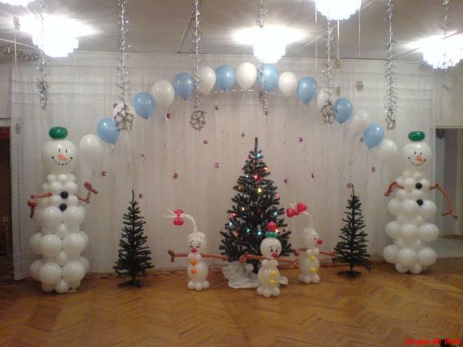 Чем украсить зал на новый год своими руками фото