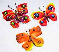 Поделки с детьми делаем бабочку из
