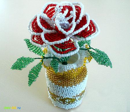 роза из бисера схема плетения