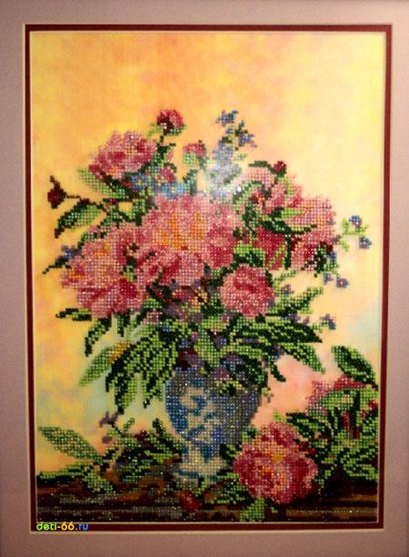 Цена: 1480.0 р. вышивка бисером В состав набора входит: канва лен с нанесенным рисунком, бисер (Чехия), бисерная игла...