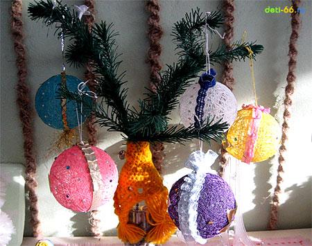 Сложные игрушки на елку своими руками