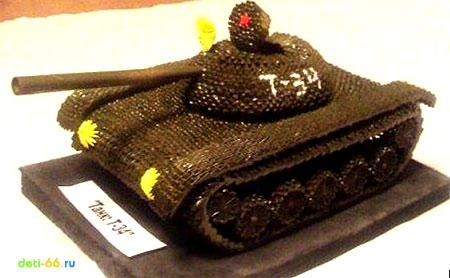Фото модульное оригами танк схема