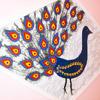 ...т.д. 4. Птицу украшаем перьями, вырезанными по трафарету из самоклеющей бумаги, украшенными поетками и бисером.
