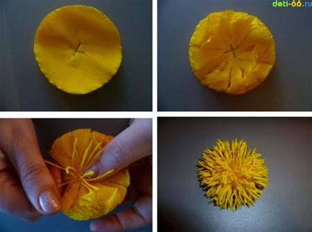 Хризантемы из бумаги своими руками пошаговое фото