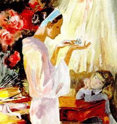Иллюстрация художника Г.Епишина  к рассказу К.Г. Паустовского
