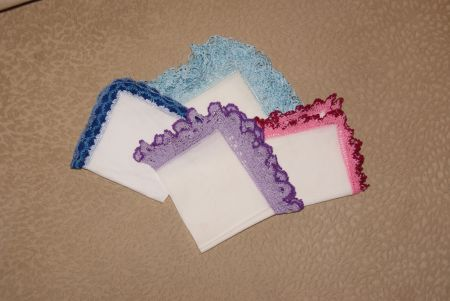 Носовые платочки ручной работы