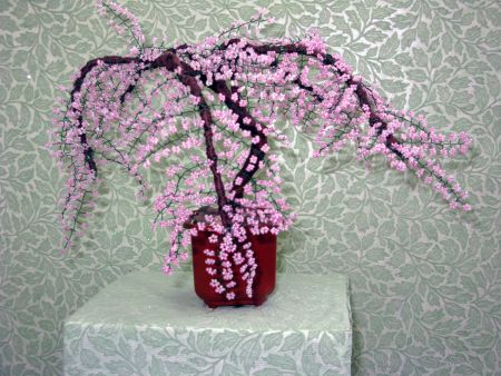 дерево вишня из бисера схема - Сайт о бисере.