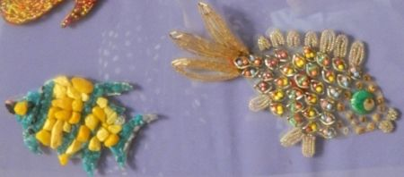 Панно составлено из 6 рыбок три рыбки