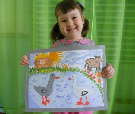 Я рисую птиц и животных в картинках
