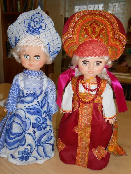 знакомство с русскими костюмами в детском саду