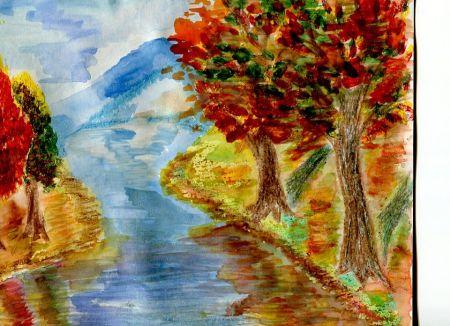 Рисунок на тему осень фото